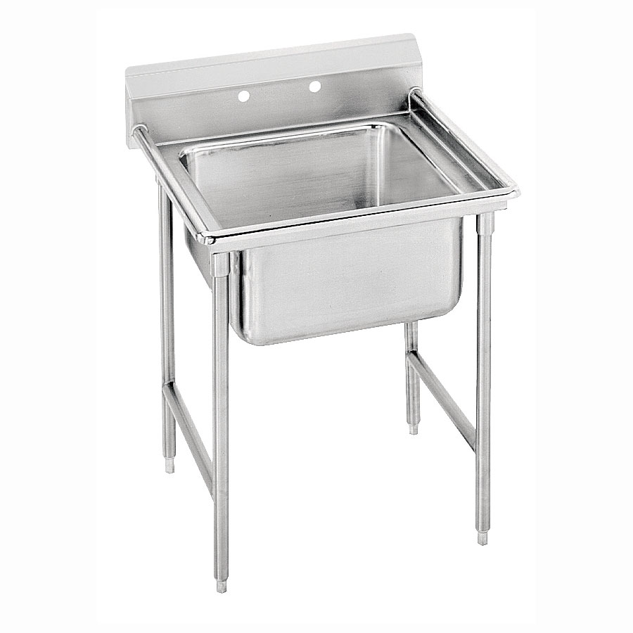 """Advance Tabco 93-41-24 33"""" 1-Compartment Sink w/ 24""""L x 24""""W Bowl, 12"""" Deep"""