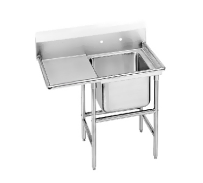 Advance Tabco 93-61-18-24L Sink (1) 24 x 18 x 12-in D 24-in Left Drainboard 16-Ga. Stainless Restaurant Supply