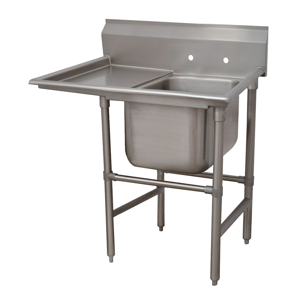 "Advance Tabco 94-41-24-24L 54"" 1-Compartment Sink w/ 24""L x 24""W Bowl, 14"" Deep"