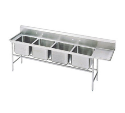 Advance Tabco 94-4-72-36R Sink (4) 20 x 16 x 14-in D 36-in Right Drainboard 14-Ga. Stainless Restaurant Supply
