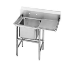 Advance Tabco 9-61-18-18R Sink, (1) 24 x 18 x 12-in D, 18-in Right Drainboard, 18/304 Stainless