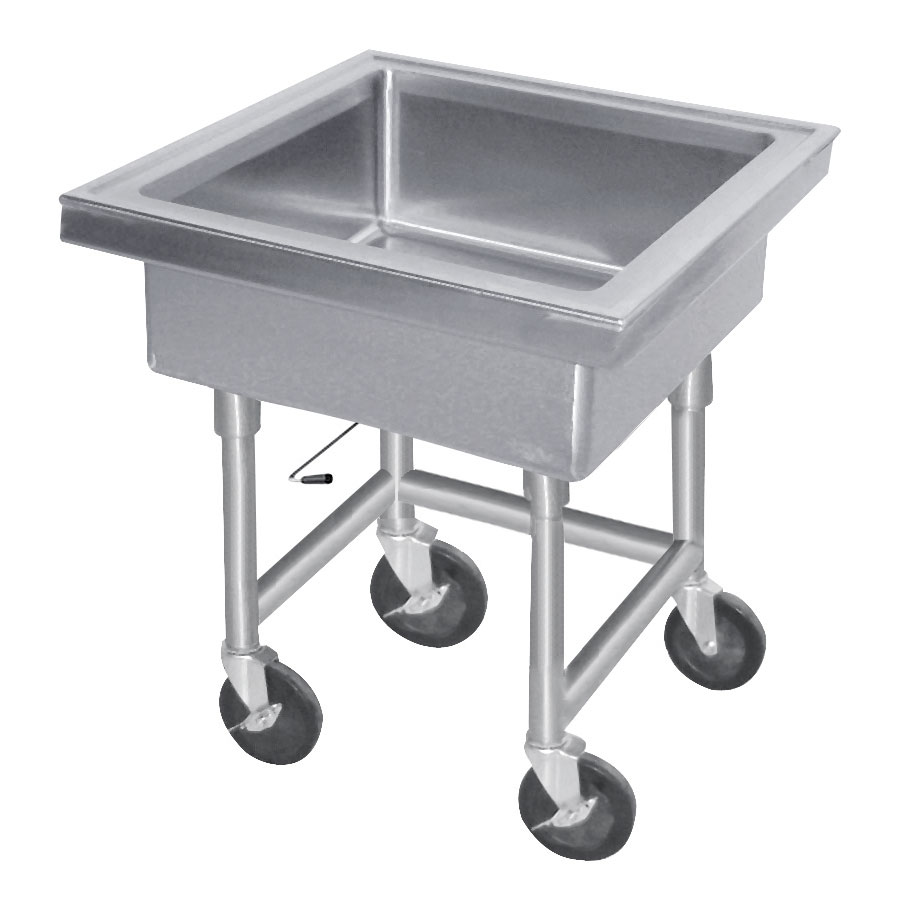 "Advance Tabco 9-FMS-20 34""H Portable Soak Sink w/ 8""D Bowl, Drain Connection"