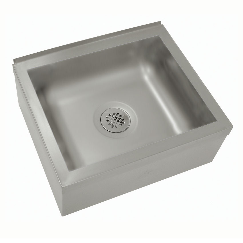 "Advance Tabco 9-OP-20 Floor Mount Mop Sink - 20x16x6"" Bowl, Free Flow Drain, Stainless"