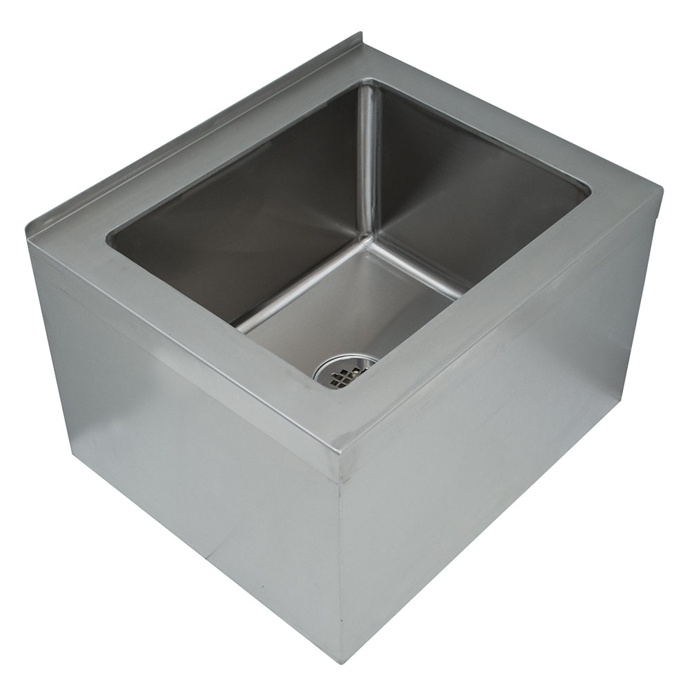 "Advance Tabco 9-OP-48 Floor Mount Mop Sink - 28x20x12"" Bowl, Free Flow Drain, Stainless"