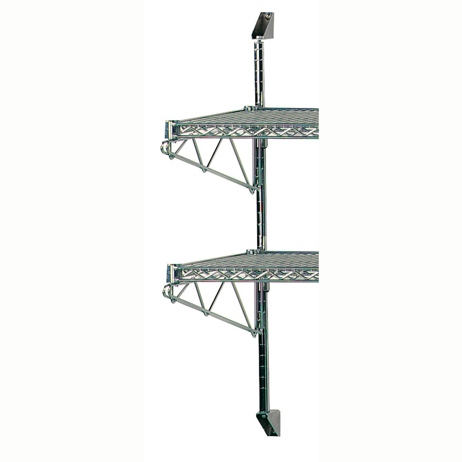 """Advance Tabco AB2-14 28"""" Wire Wall Mounted Shelving Posts & Brackets w/ Mounting Hardware"""