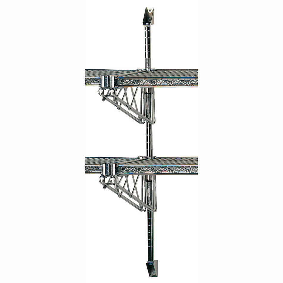 "Advance Tabco ABM2-18 36"" Wire Wall Mounted Shelving Post & Brackets w/ Mounting Hardware"