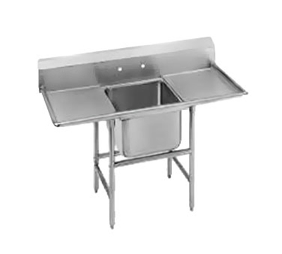 "Advance Tabco 94-61-18-36RL 92"" 1-Compartment Sink w/ 18""L x 24""W Bowl, 14"" Deep"