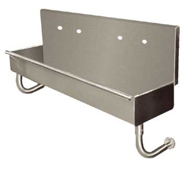 "Advance Tabco 19-18-96 Multiwash Wall-Mount Hand Sink - 96x14x8"" Bowl, 16-ga 304-Stainless"