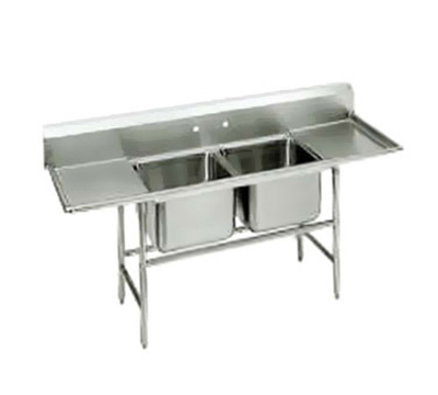 "Advance Tabco 94-62-36-24RL Sink - (2) 24x18x14"" Bowl, 24"" L-R Drainboard, 14-ga 304-Stainless"