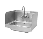 "Advance Tabco 7-PS-17 7.75"" Tall Side Splash for Hand Sinks - 10x14"" Bowls, 2-Sides, Splash Mount"
