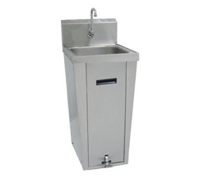 "Advance Tabco 7-PS-18 Hand Sink - Pedestal Mount Base, 16x14x6"" Bowl, 18-ga 304-Stainless"