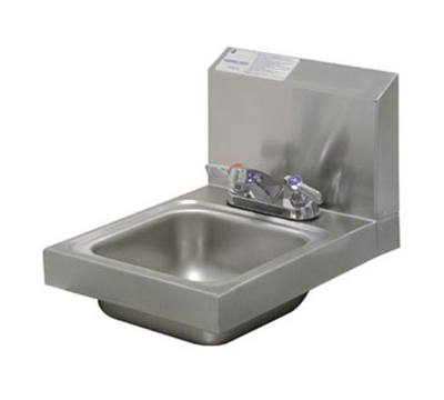 "Advance Tabco 7-PS-22 Wall Hand Sink - Deck Mount Faucet, 9x9x5"" Bowl, 20-ga 304-Stainless"