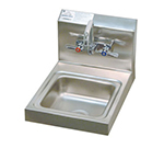 "Advance Tabco 7-PS-23 Wall Hand Sink - Splash Mount Faucet, 9x9x5"" Bowl, 20-ga 304-Stainless"