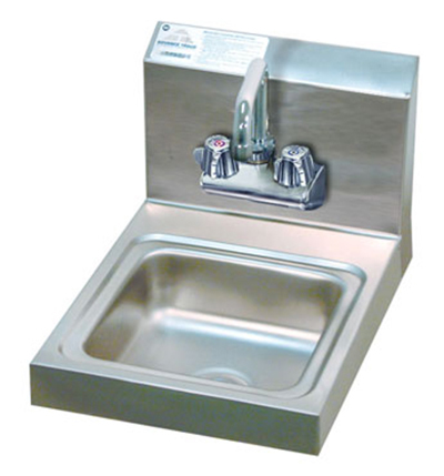 "Advance Tabco 7-PS-23-EC Wall Economy Hand Sink - Splash Mount Faucet, 9x9x5"" Bowl, 20-ga 304-Stainless"