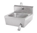 "Advance Tabco 7-PS-30 Wall Hand Sink - 14x16x6"" Bowl, Splash Mount Gooseneck, Basket Drain"