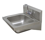 "Advance Tabco 7-PS-45 Wall Hand Sink - 20x16x8"" Bowl, Splash Mount Gooseneck, 18-ga 304-Stainless"