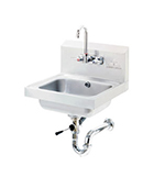 "Advance Tabco 7-PS-50 Wall Hand Sink - 14x10x5"" Bowl, Splash Mount Faucet, Lever Drain, Overflow"