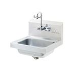 """Advance Tabco 7-PS-55 Wall Eye Wash Hand Sink - 14x10x5"""" Bowl, Splash Mount Gooseneck, Basket Drain"""