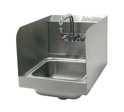 "Advance Tabco 7-PS-56 Wall Hand Sink - 9x9x5"" Bowl, Side Splash, Splash Mount Faucet"