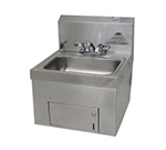 "Advance Tabco 7-PS-65 Wall Hand Sink - 14x10x5"" Bowl, Deck Mount Fixed Faucet"