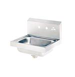 "Advance Tabco 7-PS-70 Wall Hand Sink - 14x10x5"" Bowl, 2-Splash Faucet Holes, Basket Drain"