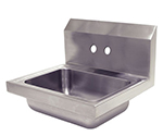 "Advance Tabco 7-PS-70-EC Wall Economy Hand Sink - 14x10x5"" Bowl, 4"" OC Splash Faucet Holes, Basket Drain"