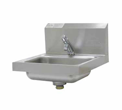 "Advance Tabco 7-PS-72 Wall Hand Sink - 14x10x5"" Bowl, Metering Faucet, Basket Drain, HACCP"