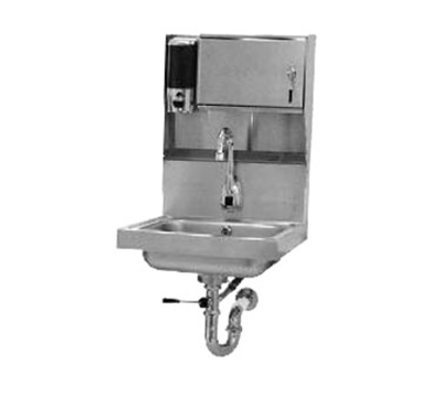 """Advance Tabco 7-PS-81 Wall Hand Sink - 14x10x5"""" Bowl, Electronic Faucet, Lever Drain, P-Trap"""