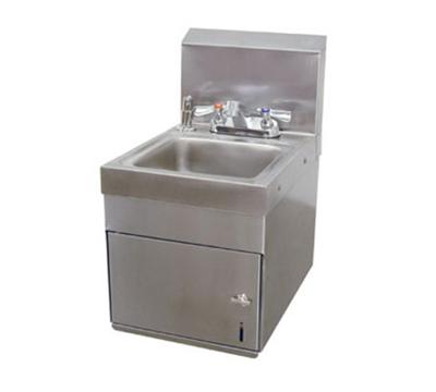 "Advance Tabco 7-PS-88 Wall Hand Sink - 9x9x5"" Bowl, Deck Mount Fixed Faucet, Soap, Towel Dispenser"