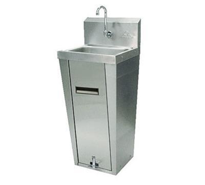 "Advance Tabco 7-PS-90 Hand Sink - Pedestal Mount Base, 14x10x5"" Bowl, Splash Mount Faucet, Basket Drain"