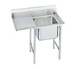 "Advance Tabco 9-21-20-18L Sink - 20x20x12"" Bowl, 8"" Splash, 18"" Left Drainboard, 18-ga 304-Stainless"