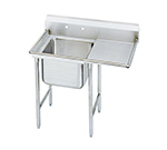 Advance Tabco T9-21-20-18R 44-in Sink w/ (1) 20x20x12-in Bowl & 18-in R Drainboard, Galvanized Frame