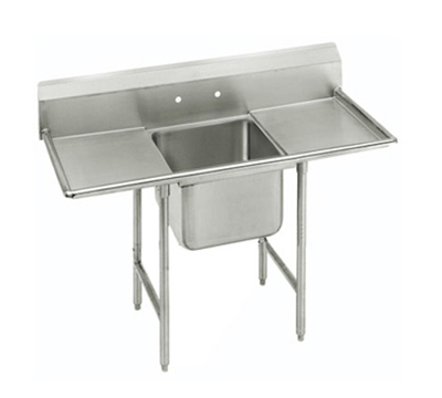 "Advance Tabco 9-1-24-24RL Sink - 20x16x12"" Bowl, 8"" Splash, 24"" L-R Drainboard, 18-ga 304-Stainless"