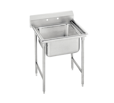 "Advance Tabco 9-1-24 Sink - 20x16x12"" Bowl, 8"" Splash, 18-ga 304-Stainless"