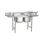Advance Tabco 94-K8-30D Sink w/ (2) 20x28x12-in & (1) 20x20x12-in Bowl, 30-in L-R Drainboard, 16-ga 304-Stainless
