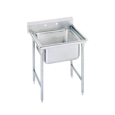 "Advance Tabco T9-1-24-X 40"" 1-Compartment Sink w/ 16""L x 20""W Bowl, 12"" Deep"