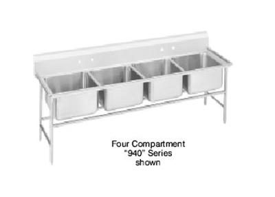 "Advance Tabco 94-64-72 Sink - (4) 24x18x14"" Bowl,11"" Splash, 14-ga 304-Stainless"