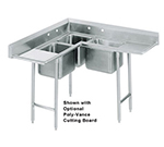Advance Tabco 9-FSS-20 20-in Portable Soak Sink w/ 22x22x8-in Bowl & Quick Release Drain, Stainless, Silver Chute