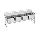 "Advance Tabco 94-44-96 Sink - (4) 24x24x14"" Bowl, 11"" Splash, 14-ga 304-Stainless"