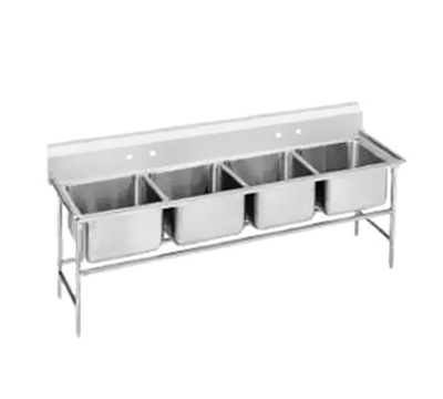 "Advance Tabco 94-4-72 Sink - (4) 20x16x14"" Bowl, 11"" Splash, 14-ga 304-Stainless"