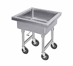 "Advance Tabco 9-FMS-12 34"" Portable Soak Sink - 22x22x12"" Bowl, Quick Release Drain, Stainless"