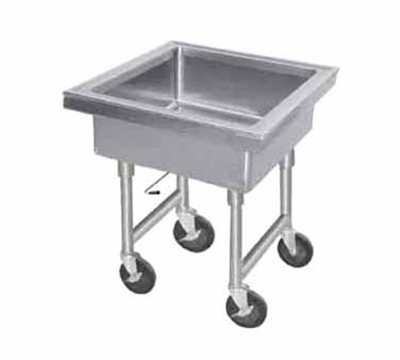 "Advance Tabco 9-FMS-20 34"" Portable Soak Sink - 22x22x8"" Bowl, Quick Release Drain, Stainless"