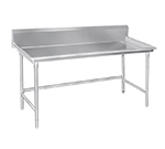 "Advance Tabco BSR-72 Sorting Table - 10.5"" Splash, 3"" Raised Edge, 30x72"", 16-ga 304-Stainless"