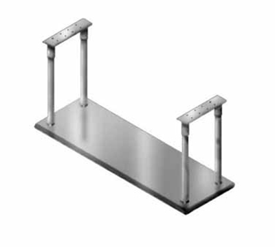 "Advance Tabco CM-18-72 Ceiling Mount Shelf - Single Deck, 5-lb Capacity, 18x72"", Stainless"