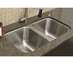 "Advance Tabco CO3919RE Weld"" Sink Bowl - 2-Compartments for Under Mount, 20x16x10"", 18-ga 304-Stainless"