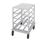 Advance Tabco CR10-72 Low Profile Mobile Can Rack for #10, #5 - 72-Can Capacity, Aluminum
