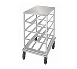 Advance Tabco CRSS10-54 Low Profile Mobile Can Rack for #10, #5 - 54-Can Capacity, Stainless Top, Alumi