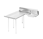 "Advance Tabco DTS-D70-84L 83"" L-R Dishlanding Soil Dishtable - Crossrails, Stainless Legs"