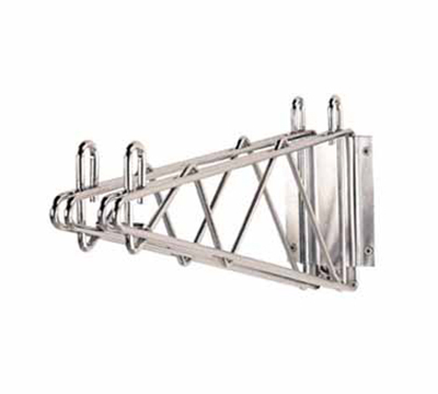 "Advance Tabco DB-14 14"" Double Mount Wall Bracket, Chrome"