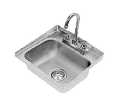 "Advance Tabco DI-1-30 Drop-In Sink - (1) 14x10x5"" Bowl, Raised Edge, 20-ga 304 Stainless"